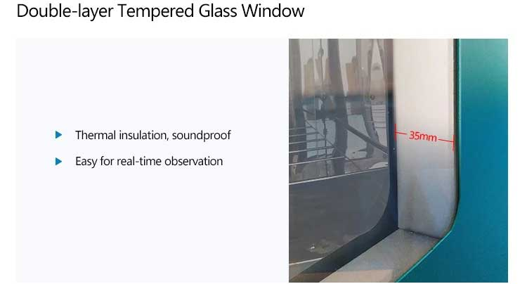 double layer tempered glass window
