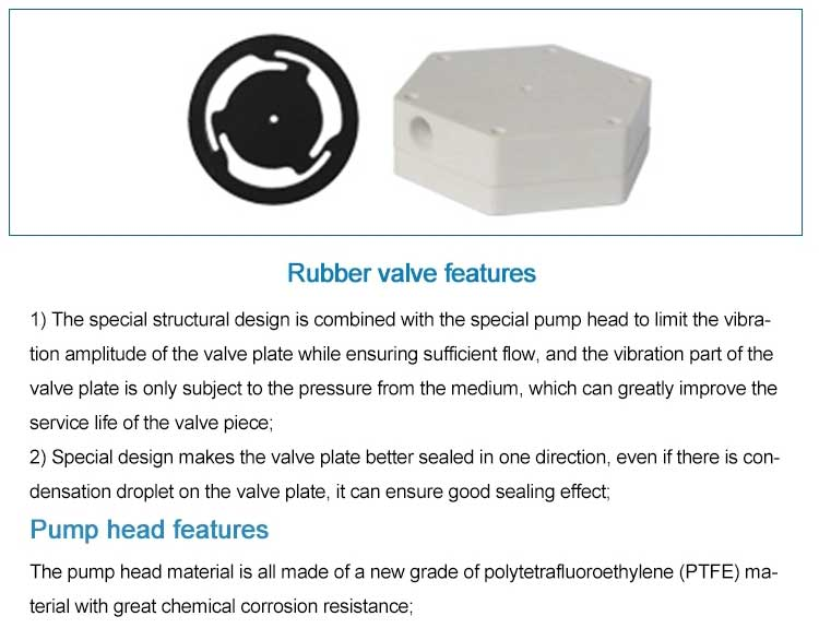 rubber valve features